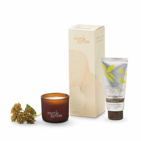 Myrtle & Moss - Essential Duet - Hand Cream & Mini Candle