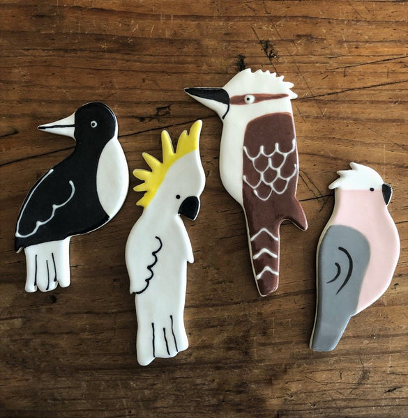 Paper Boat Press - Ceramic Australian Bird Brooch