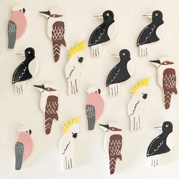 Paper Boat Press - Ceramic Australian Bird Magnet