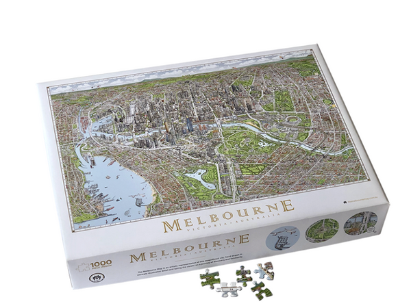 The Melbourne Map - 1000 Piece Jigsaw Puzzle