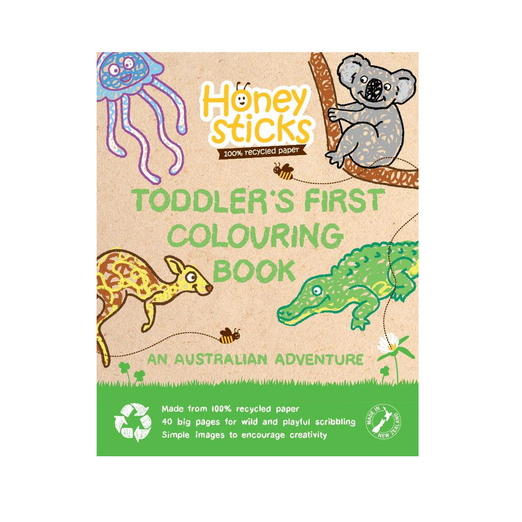 Honeysticks - Toddlers First Colouring Book - An Aussie Adventure