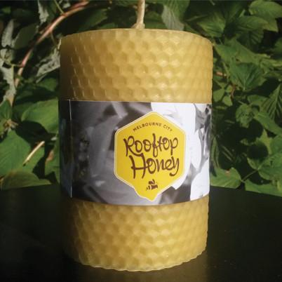 Rooftop Honey - Hand Rolled Beeswax Candle