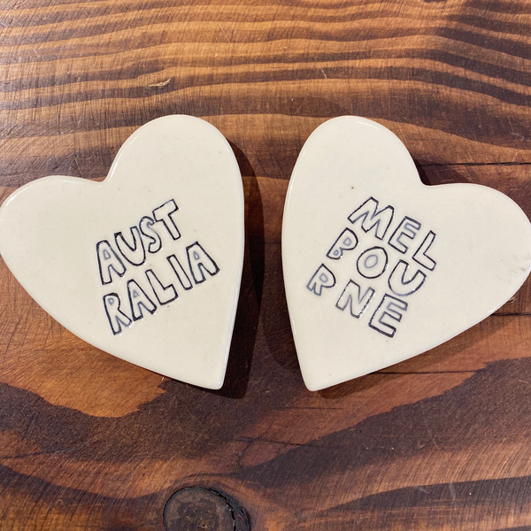 Paper Boat Press - Ceramic Heart Magnet