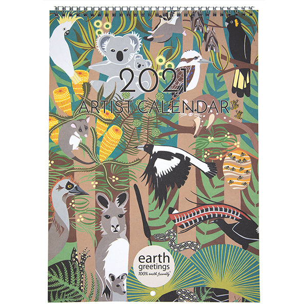Earth Greetings - Artists Calendar 2021