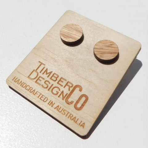 Timber Design Co - Wooden Stud Earrings