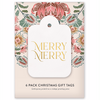 Bespoke Letterpress - Christmas Gift Tags - Pack of 6