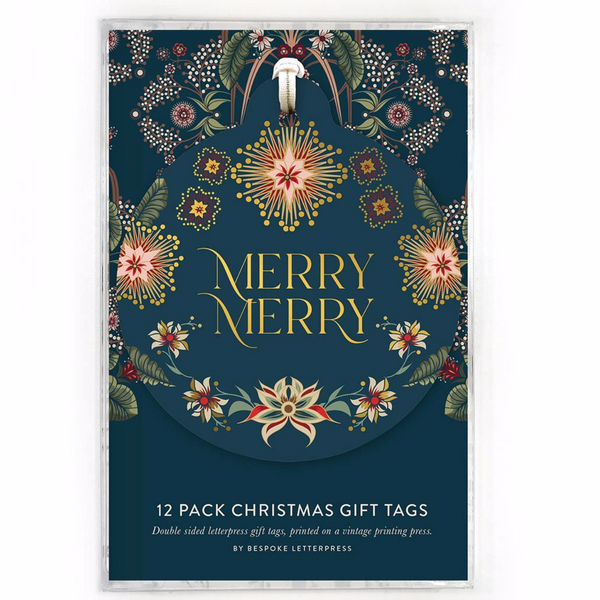 Bespoke Letterpress - Christmas Gift Tags - Pack of 12