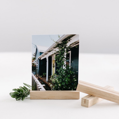 In The Daylight - Timber Photo Stand - Rectangular