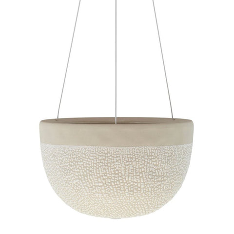 Angus & Celeste - White Water Bead Hanging Planter