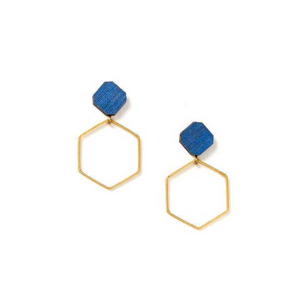 Martha Jean - Hex Hoop Earrings