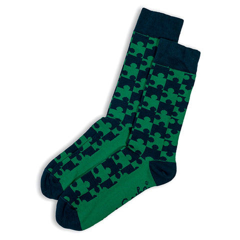 Otto & Spike - Jigsaw Socks - Teal