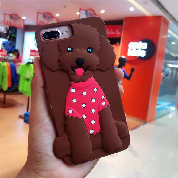 Brown Poodle Phone Case // kastle.brixx