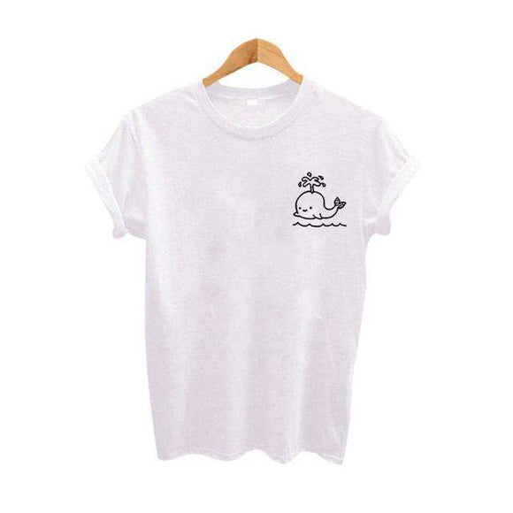 Whale Pocket Print Women's T-shirt // kastle.brixx