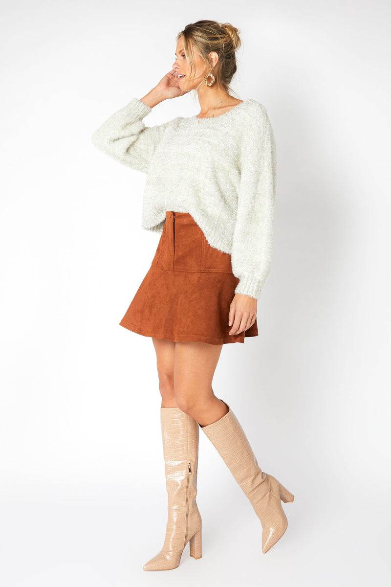 Alberta Faux Suede Mini Skirt