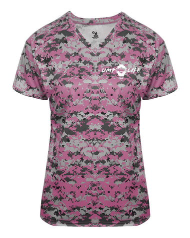 Ump-Life Digital Ladies V-Neck Tee