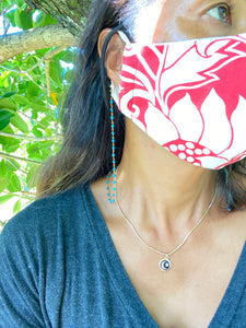 Mask chain for pink ribbon