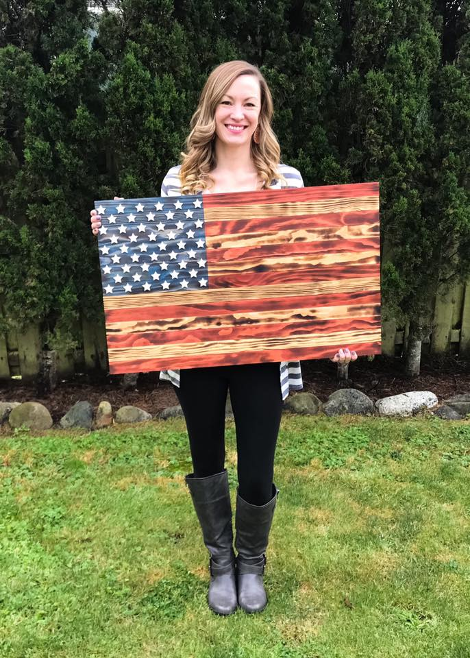 3D Wooden Traditional American Flag