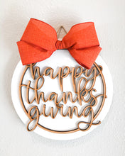 3D 'Happy Thanksgiving' wood Sign
