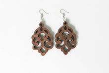 Wooden Dangle Earrings (style 5)- Light Weight - Gift for her - Stocking stuffer idea