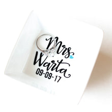Personalized Wedding Ring Dish