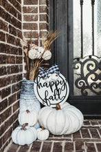 Buffalo Plaid 'Happy Fall' Door-hanger or Wall Decor - Farmhouse Style