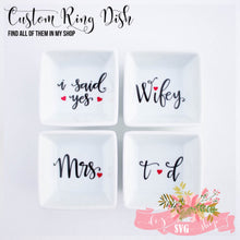 Personalized Engagement Ring Dish