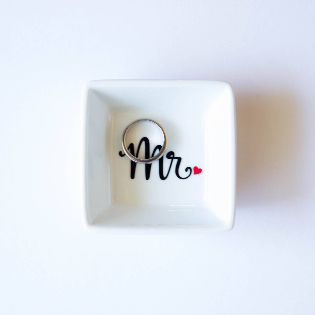 'Mr' Ring Dish - Gift for Husband or Groom