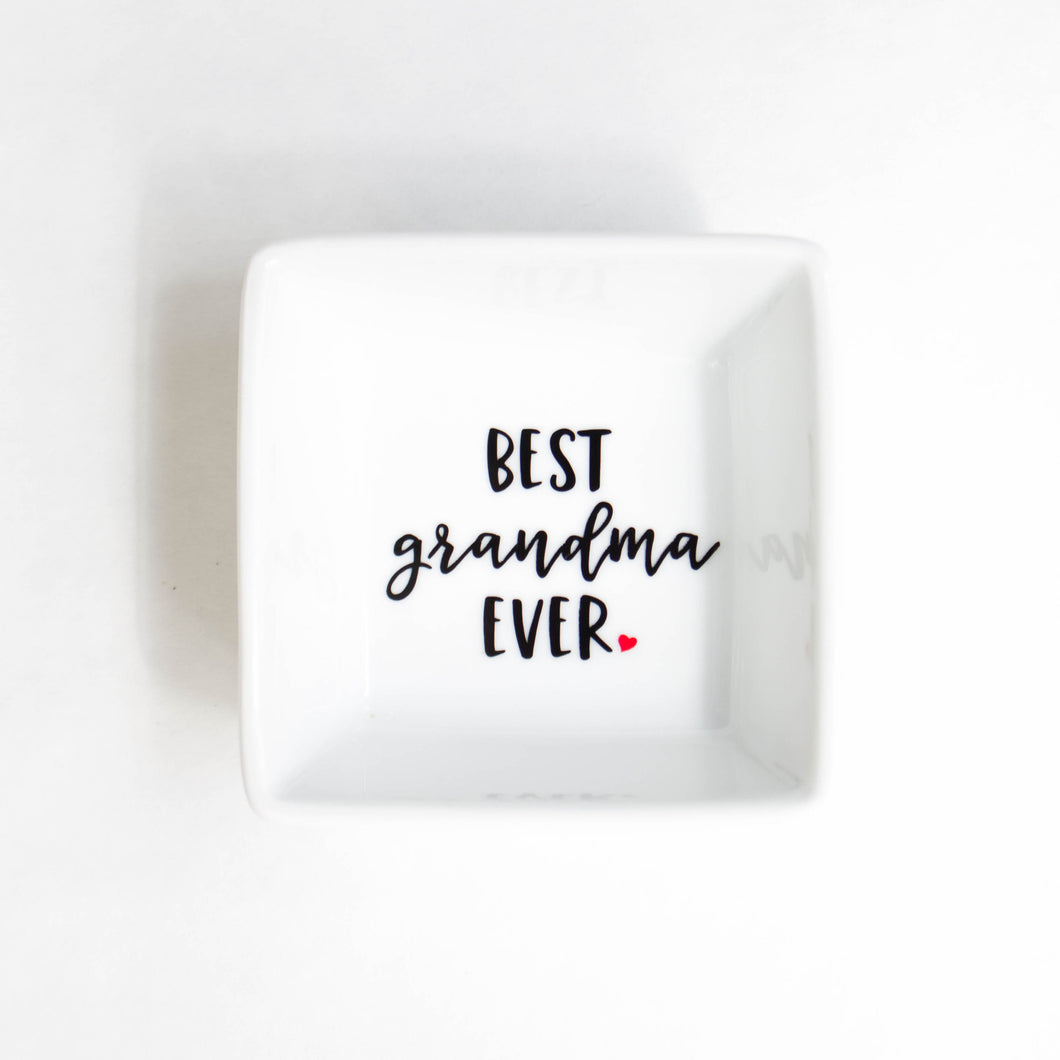 Ring Dish | Best Grandma Ever Ring Dish | Gift for Grandma | Mother's Day Gift | Ring holder | Trinket Dish | Ring Tray | Jewelry dish