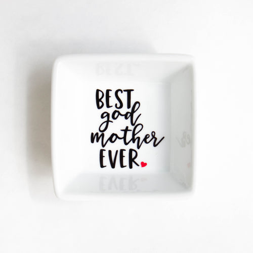 Best God Mother Ever Ring Dish - Gift for God Mother - Birthday - Christmas - Stocking stuffer