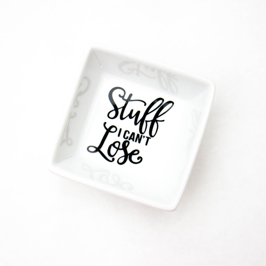 Stuff I Can't Lose Ring Dish | Ring holder | Funny ring dish | Important stuff you can't lose | Funny Organization | Wedding Gift