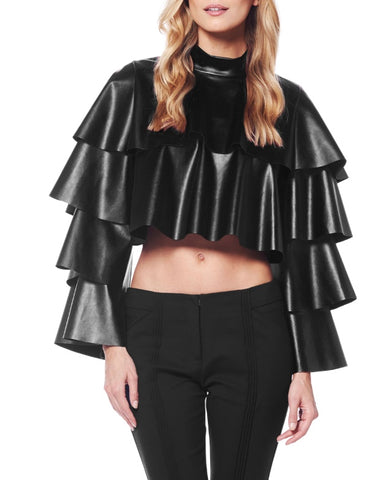 Layers Vegan Leather Top
