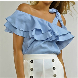Layered Ruffle Top w/Tie