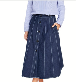Buttom Me Up Denim Skirt