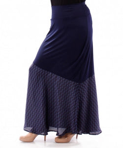 Silk Hem Maxi Skirt (Plus)