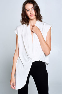 Sleeveless Cross Front Top (Small - XL)