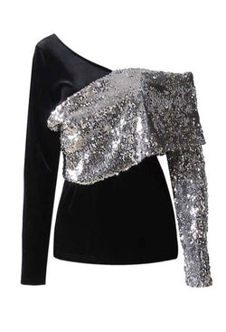 Velvet Sequin Multi-way Top