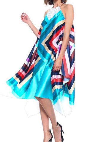 Handkerchief multi color dress