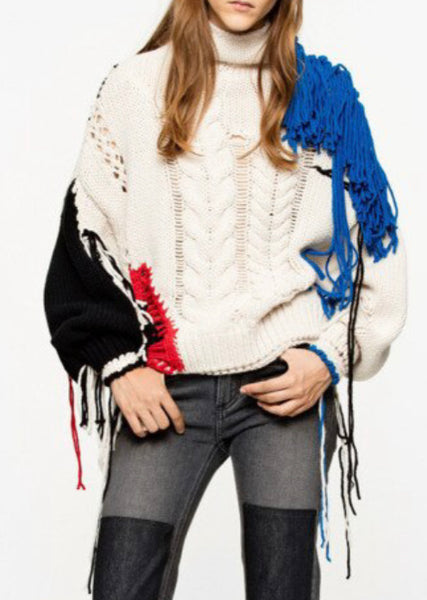 All Tied Up Tassel Sweater