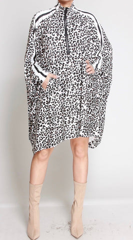 Mixed Print Oversized Dress