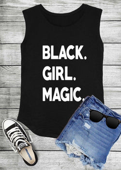 Black Girl Magic Sleeveless Top.