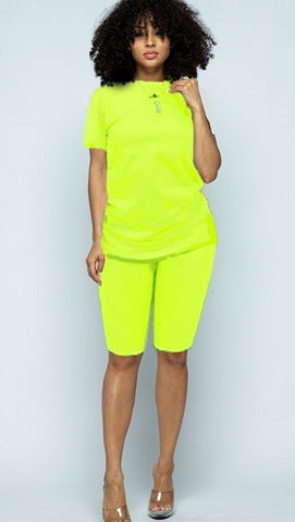 Neon Lights Short Set