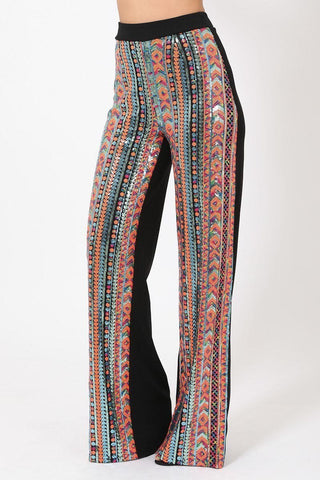 Multi Color Sequin Pants