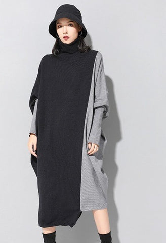 Contrast Oversized Knit Dress