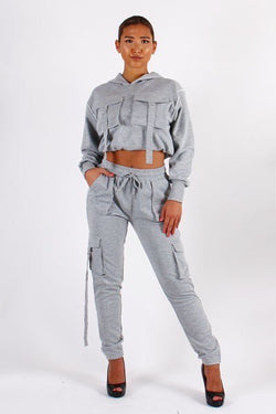 FRONT POCKET HOODIE AND JOGGER PANTS (Plus)