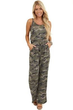 Camo Loose Fit Jumpsuit (small - XL)