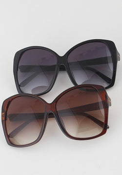 Large Frame Rectangle Sunglasses
