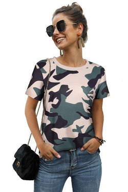 Camo Print Top (Large-2XL)