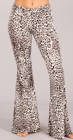 Leopard Flare Leg Pants (Small - XL)