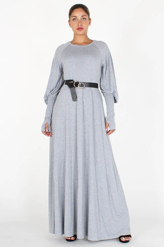 Bishop Sleeve Comfort Maxi Dress
