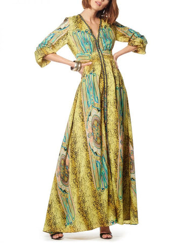 Golden Beauty Maxi Dress